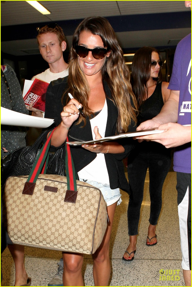 lea michele lax arrival after bikini clad vacation 072906196