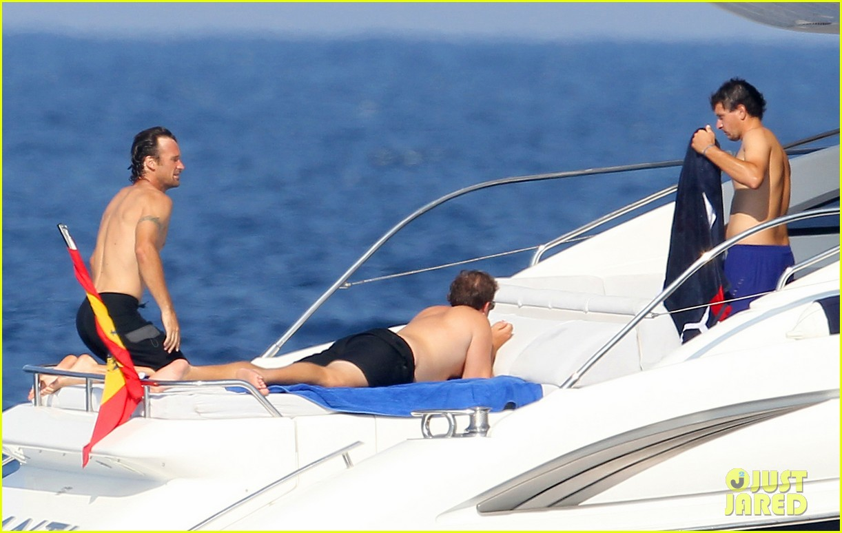 rafael nadal shirtless yacht ride with pals 08