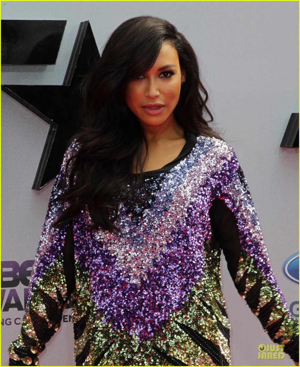 naya rivera big sean bet awards 2013 red carpet 02