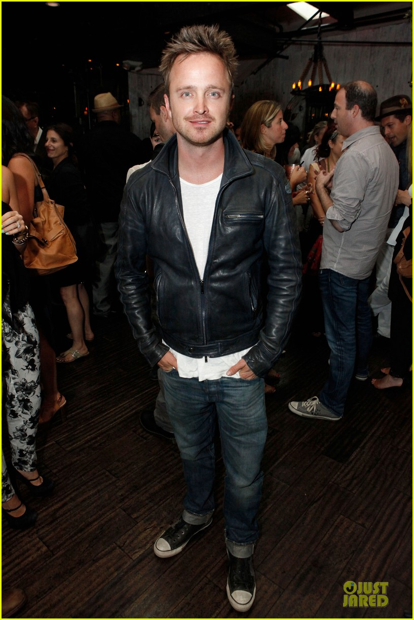 aaron paul lauren parsekian los angeles confidential event 032908544