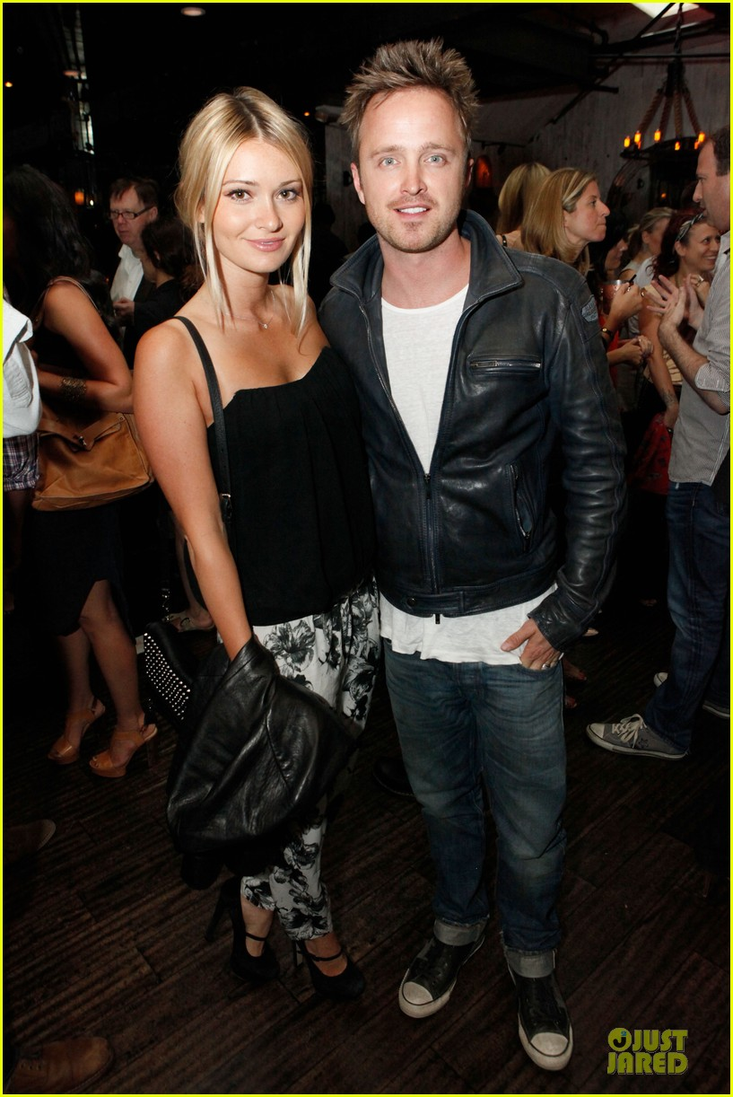 aaron paul lauren parsekian los angeles confidential event 052908546