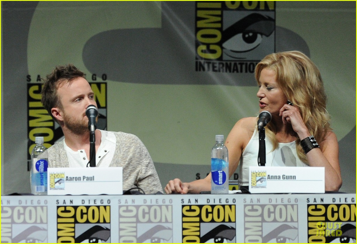 aaron paul bryan cranston breaking bad panel at comic con 27