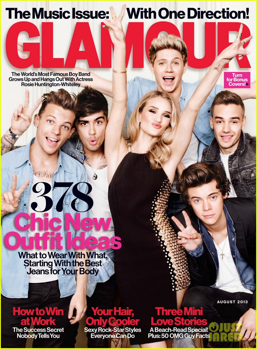 one direction rosie huntington whiteley cover glamour more pics 01