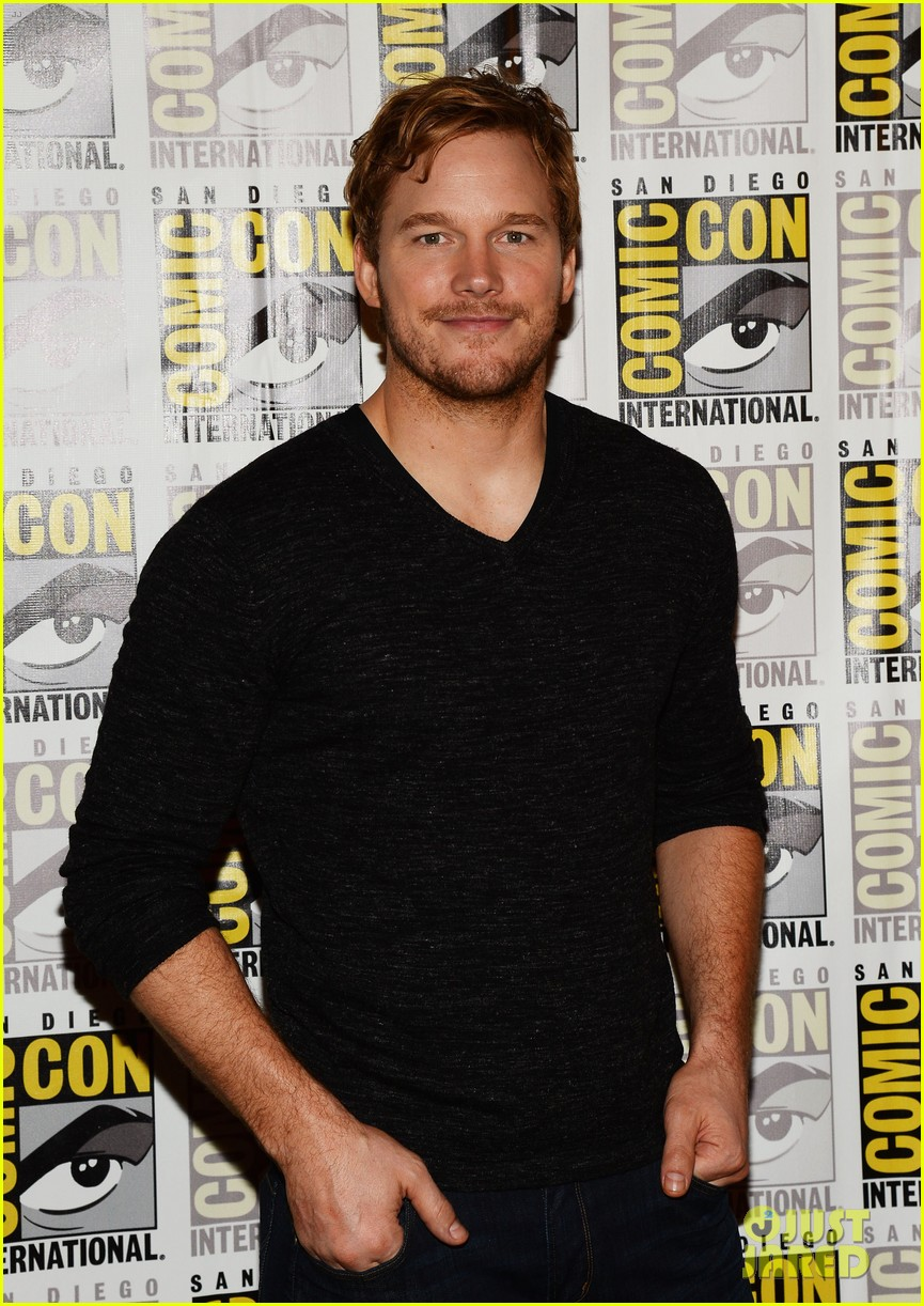 chris pratt zoe saldana guardians of the galaxy comic con panel 082913470
