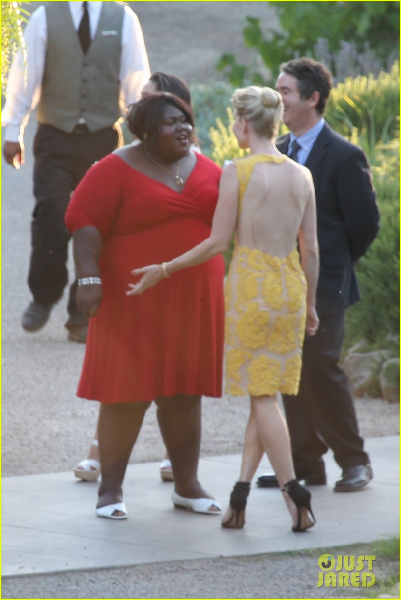 gabourey sidibe wears bridal gown to jimmy kimmel wedding 042909900