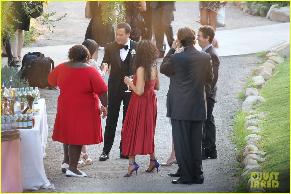 gabourey sidibe wears bridal gown to jimmy kimmel wedding 072909903