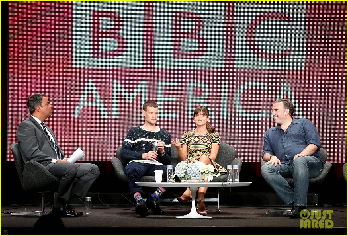 matt smith jenna louise coleman dr who tca panel 08