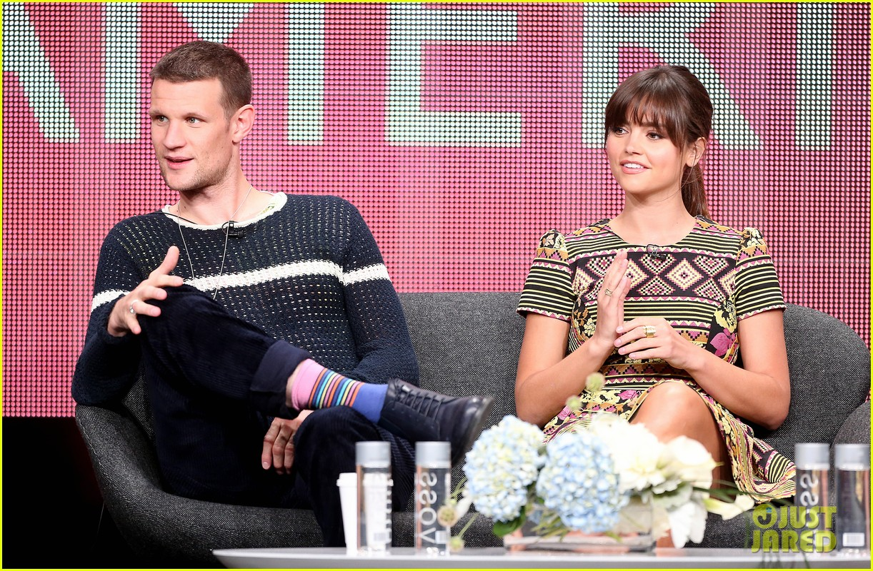 matt smith jenna louise coleman dr who tca panel 13