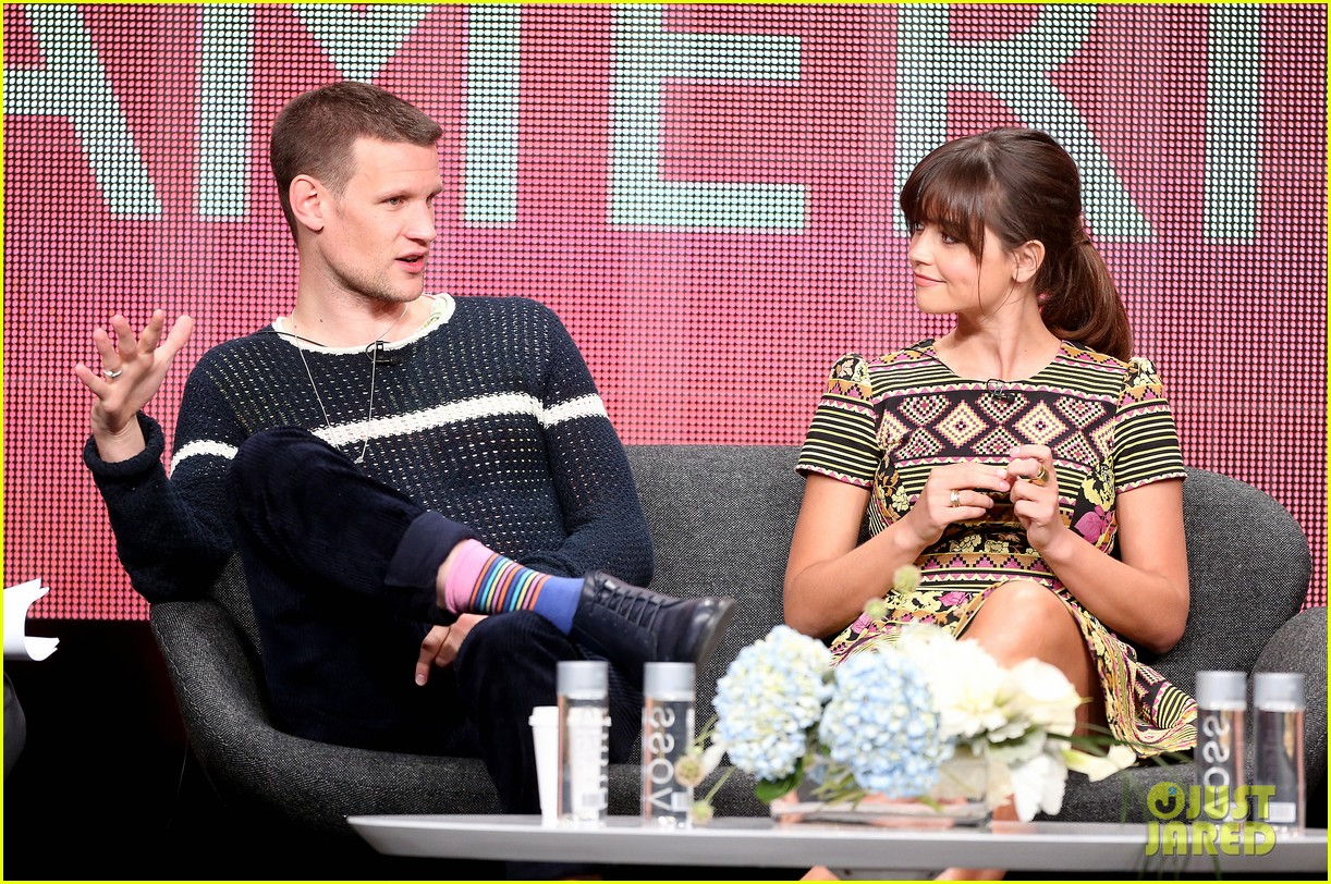 matt smith jenna louise coleman dr who tca panel 152916728