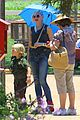 gwen stefani sun blocking umbrella at underwood family farms 05