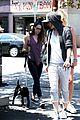 kristen stewart bra revealing walk with new puppy 05