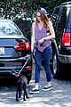 kristen stewart bra revealing walk with new puppy 28