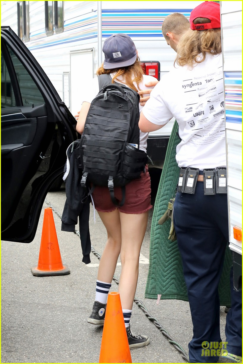 kristen stewart snacks coconut water for camp x ray set 12