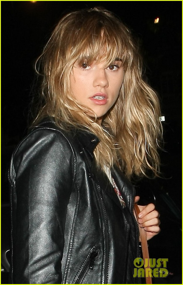 suki waterhouse attends mick jagger birthday party 01