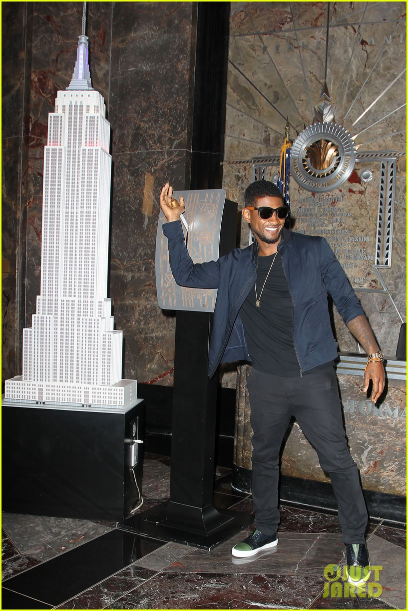usher lights empire state building before 4th of july fireworks 102903729