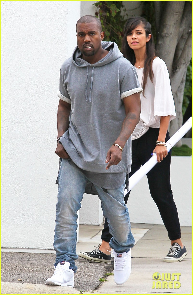 kanye west shops for furniture reportedly naps with north 06