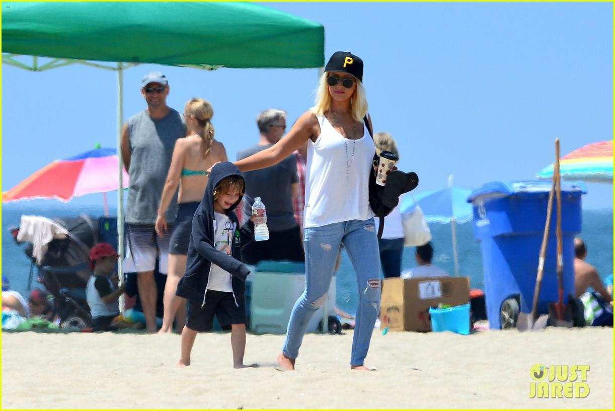 christina aguilera hits the beach with jordan bratman max 252928728