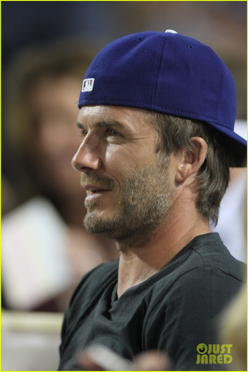 david beckham harper daddy daughter baseball game 122939640