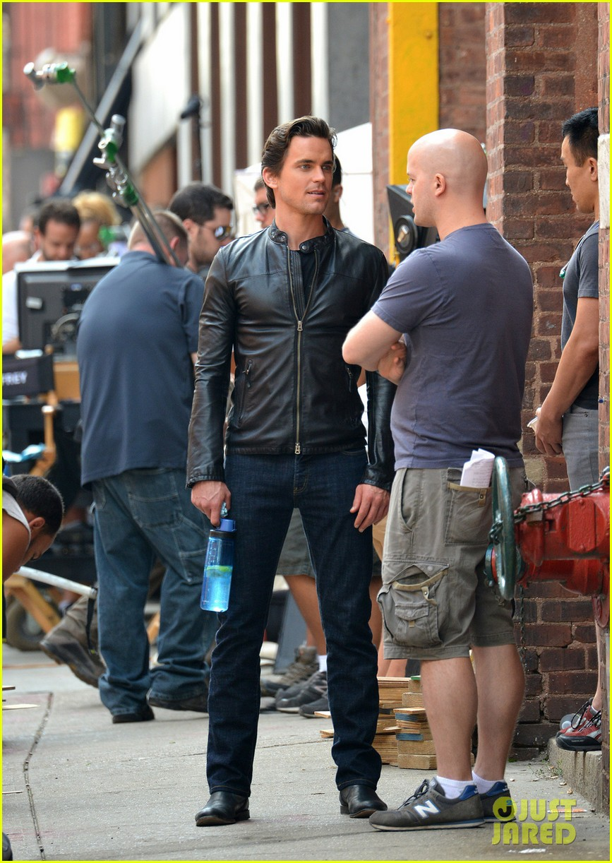 matt bomer fitted leather jacket for white collar 03