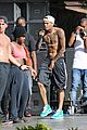 chris brown shirtless for hawaiian rehearsal 17