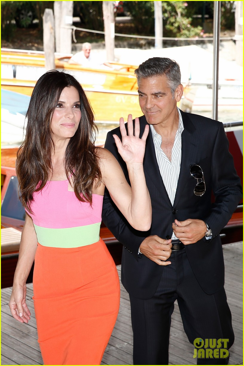 sandra bullock george clooney gravity venice photo call 10
