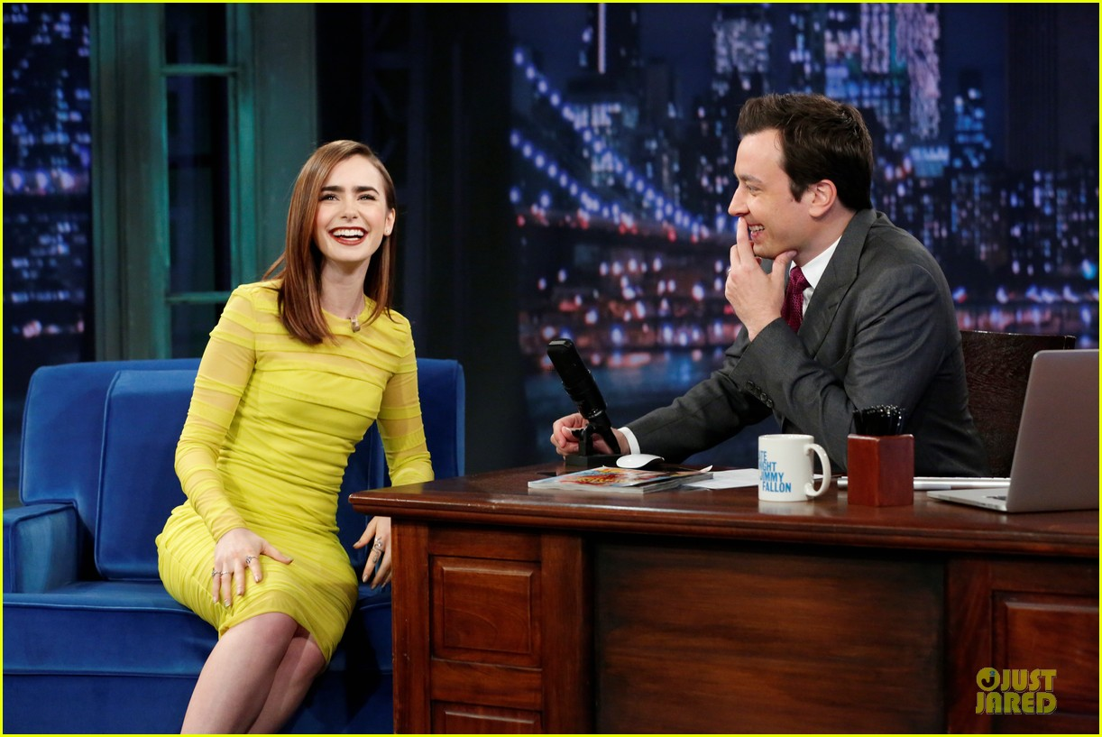 lily collins city of bones chat on fallon 04