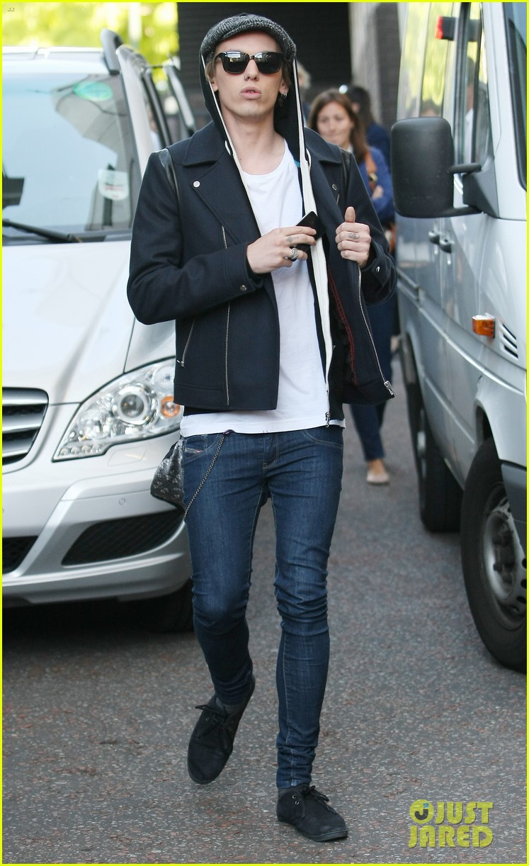 lily collins jamie campbell bower itv studios visit 062933198