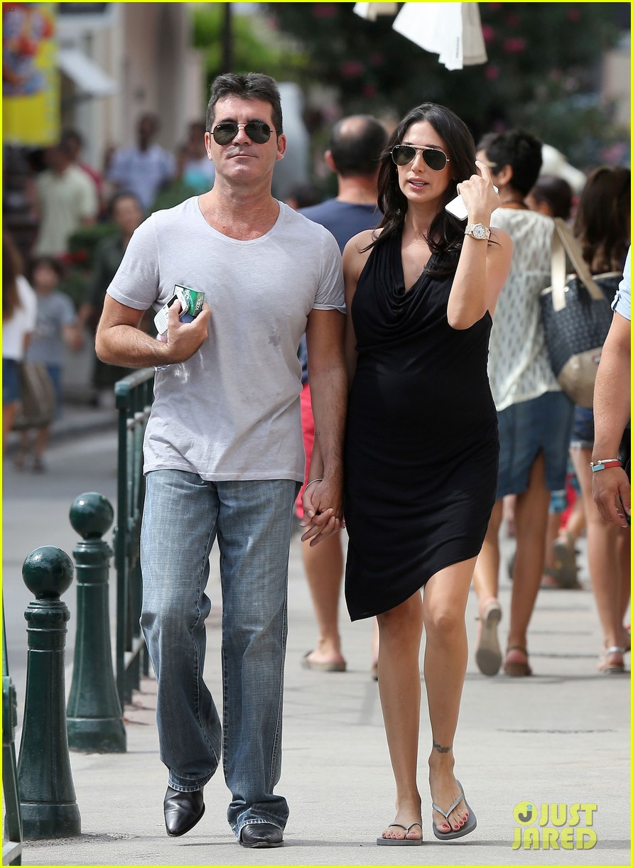simon cowell lauren silverman hold hands in st tropez 10