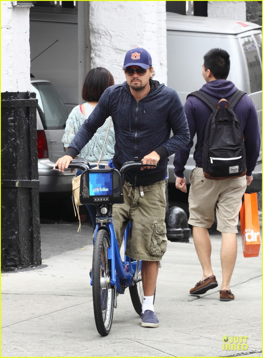 leonardo dicaprio low key china town bike ride 012933744