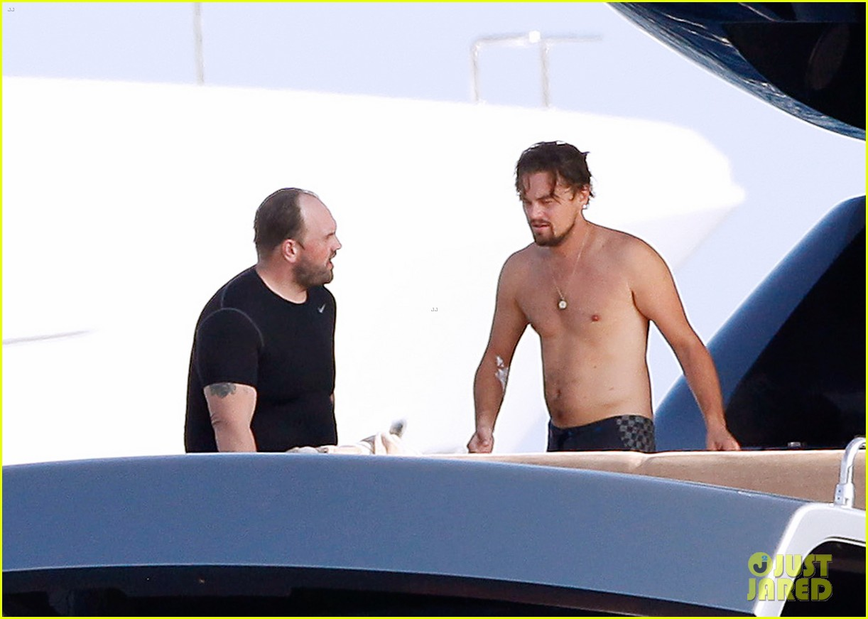 leonardo dicaprio goes shirtless after flyboarding in ibiza 02