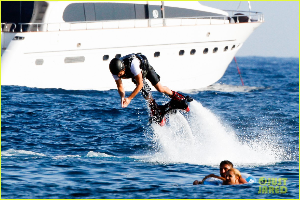 leonardo dicaprio goes shirtless after flyboarding in ibiza 092925563