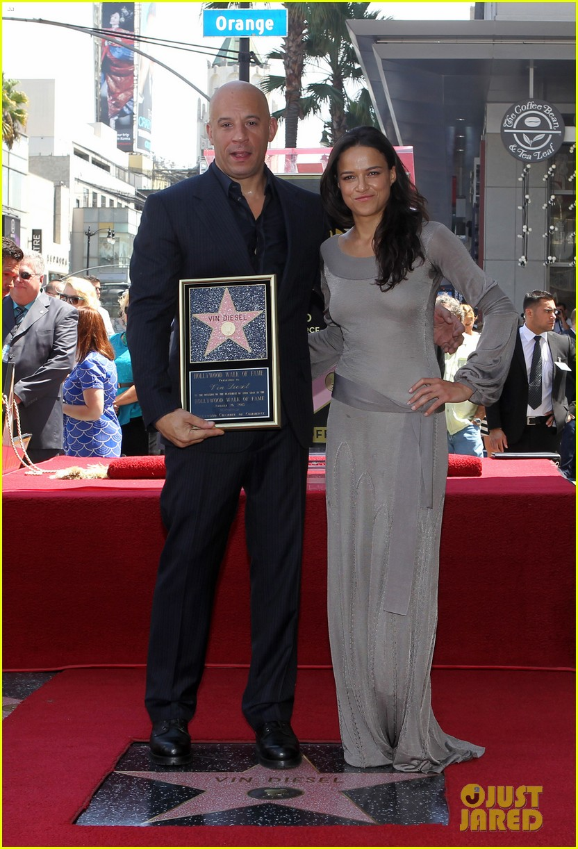 vin diesel hollywood walk of fame with his leading ladies 102938396