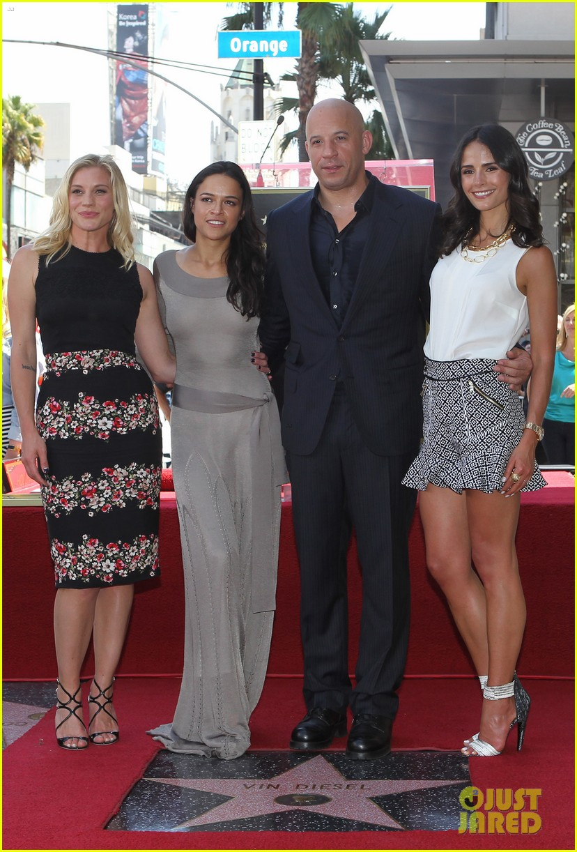 vin diesel hollywood walk of fame with his leading ladies 112938397