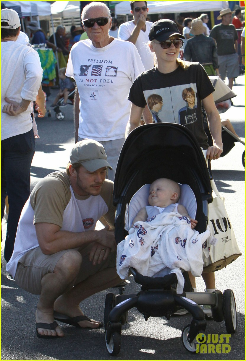anna faris chris pratt celebrate son jack first birthday 16