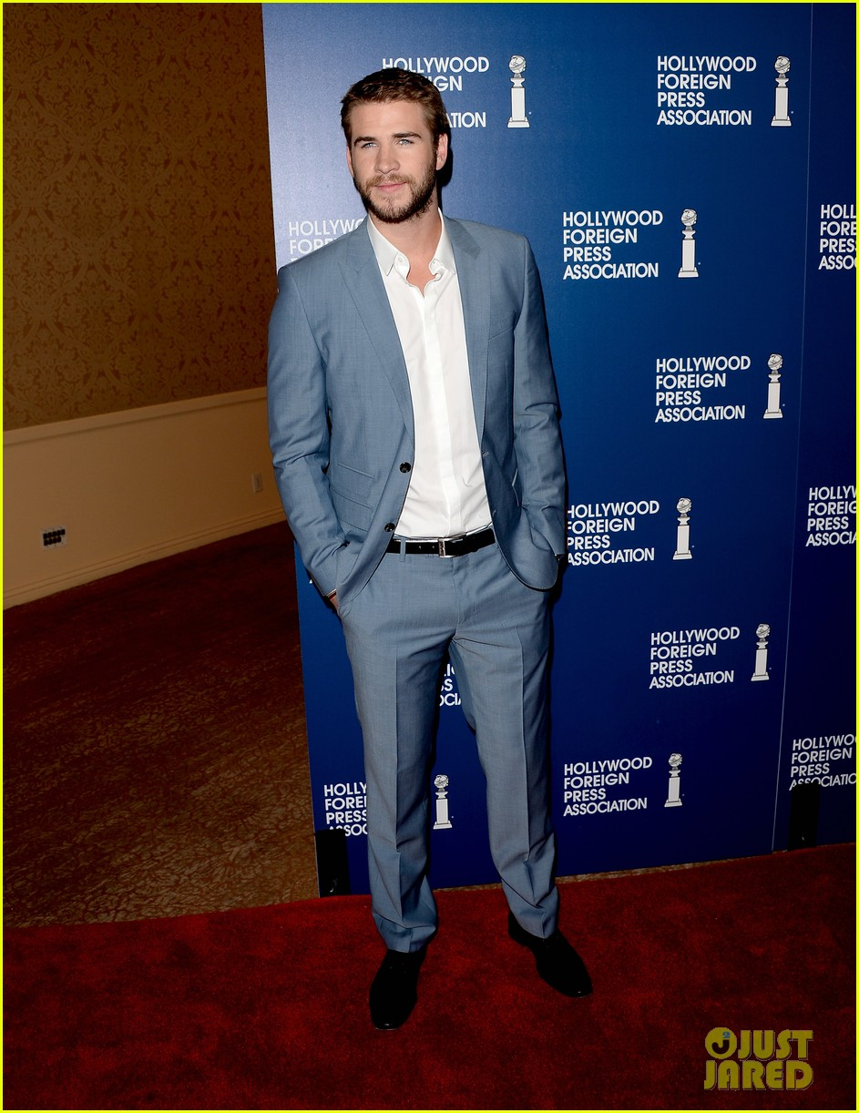 amber heard liam hemsworth hfpa installation luncheon 2013 05