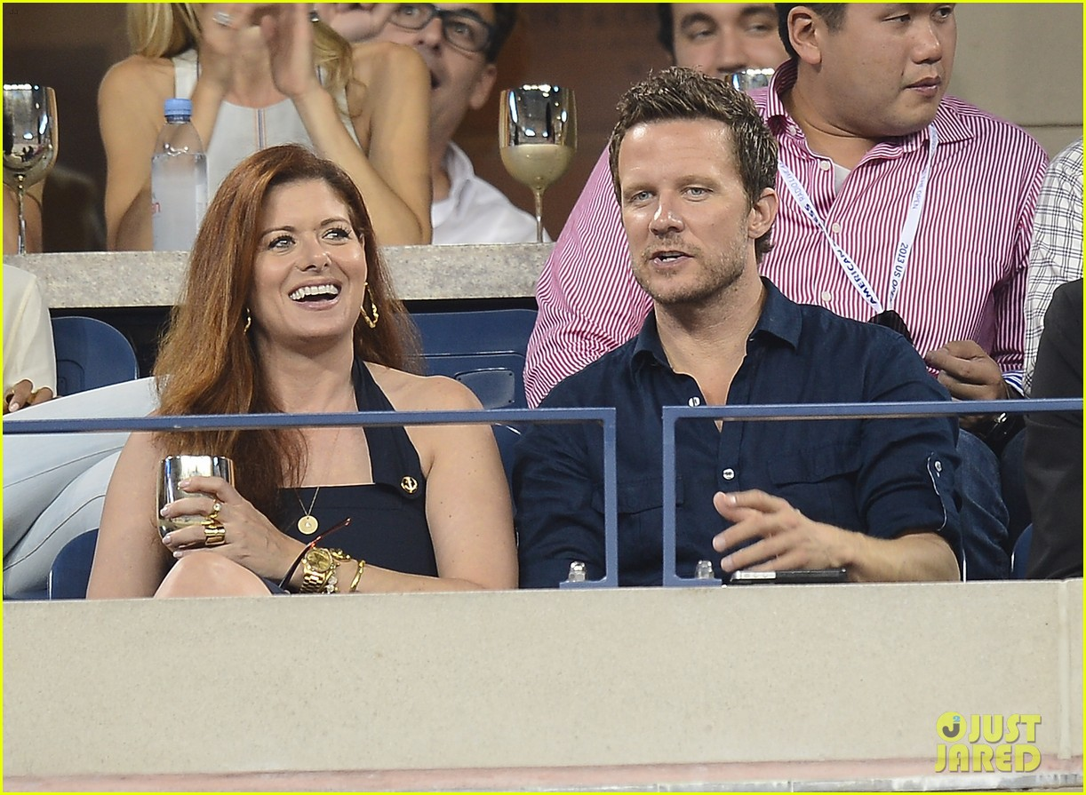 megan hilty debra messing smash reunion at us open 242941054