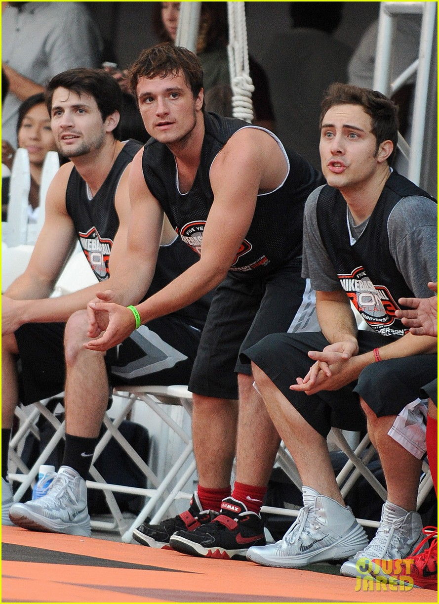 josh hutcherson james lafferty sbnn basketball game 082927172