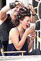 milla jovovich sports bra revealing sheer top 21