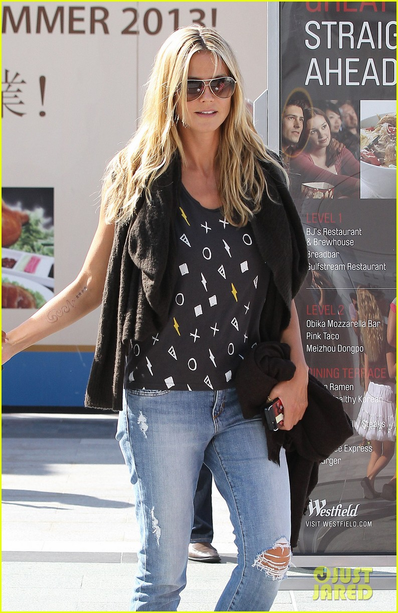 heidi klum enjoys family movie afternoon 252923819