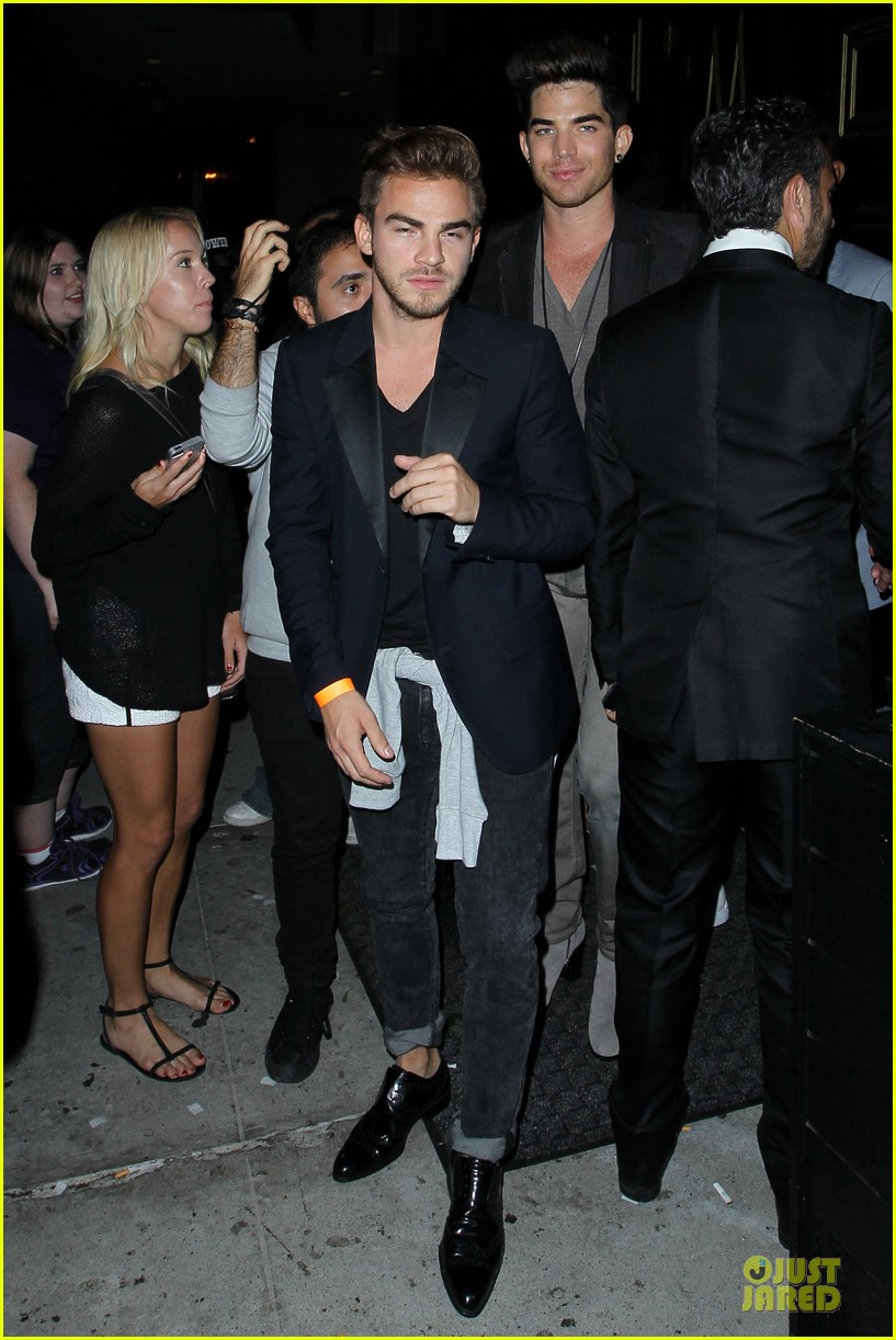 adam lambert bootsy bellows hugging lad 05