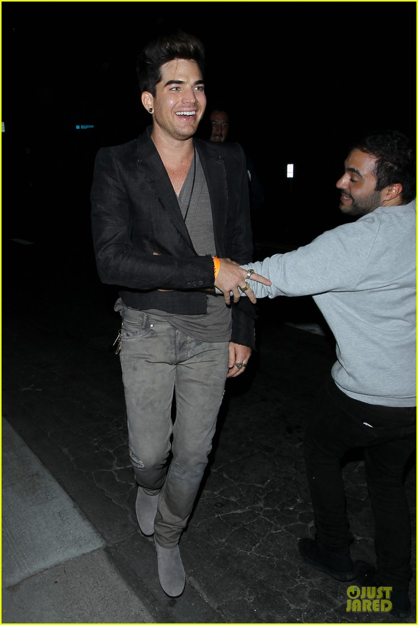 adam lambert bootsy bellows hugging lad 092931761