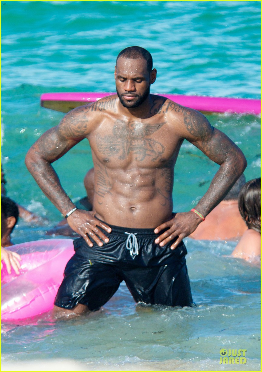 lebron james shirtless nike commercial shoot 02