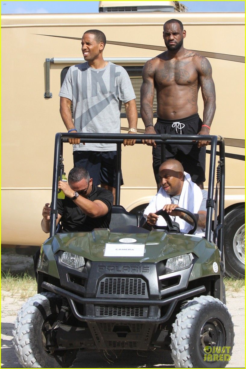 lebron james shirtless nike commercial shoot 32