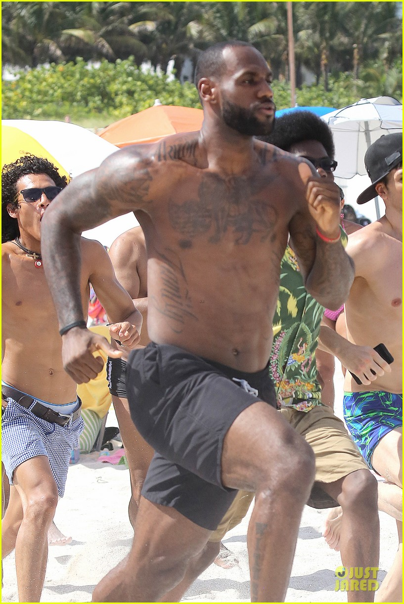 lebron james shirtless nike commerc