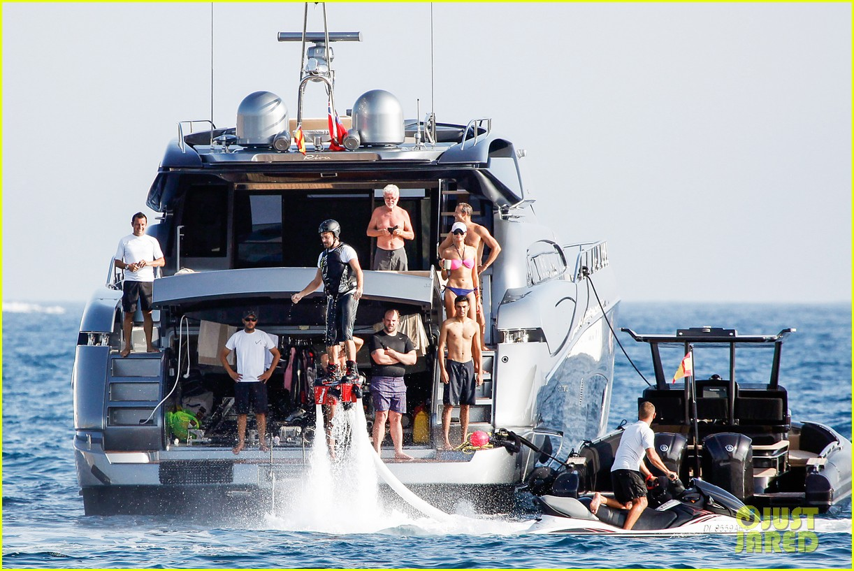 leonardo dicaprio flyboards in the air during ibiza vacation 132925485