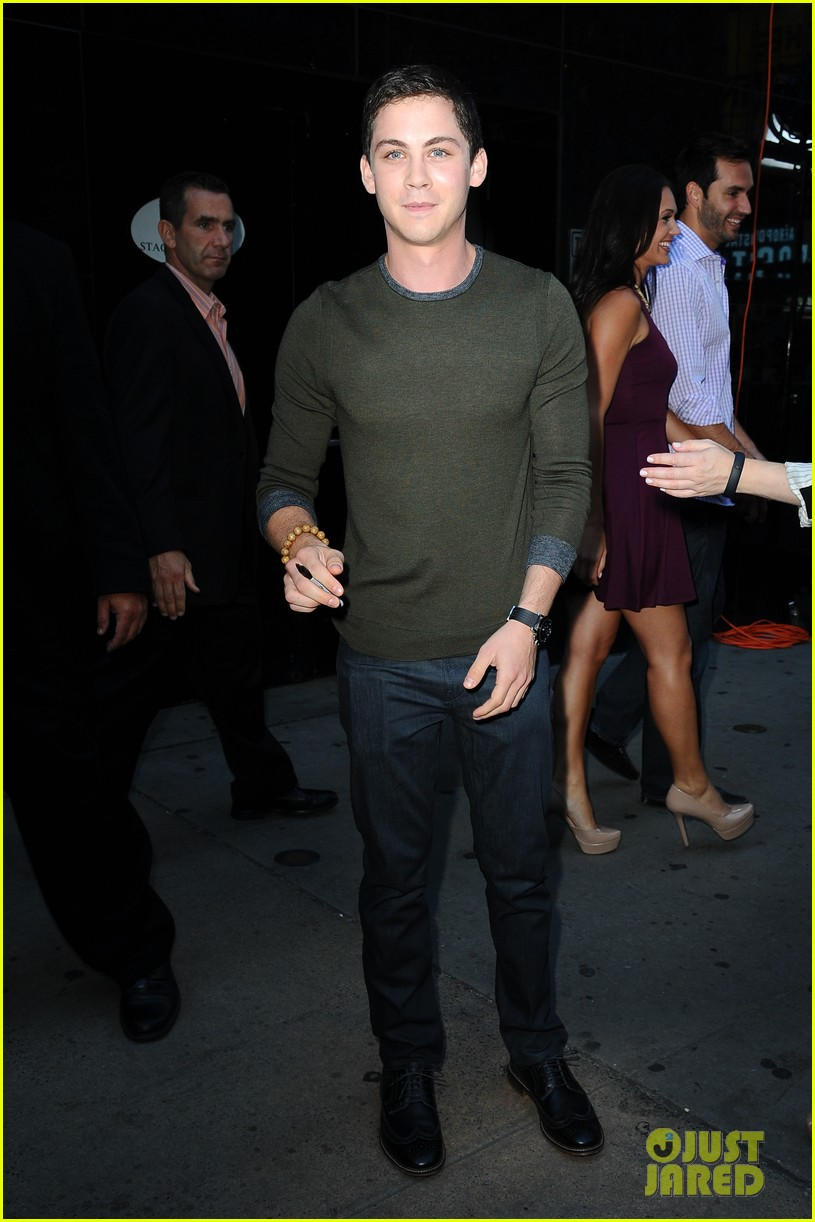 logan lerman chris colfer promote on gma 03