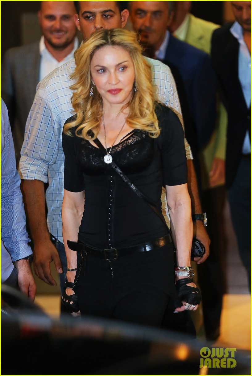 madonna rocks gold grills at the hard candy fitness center 10