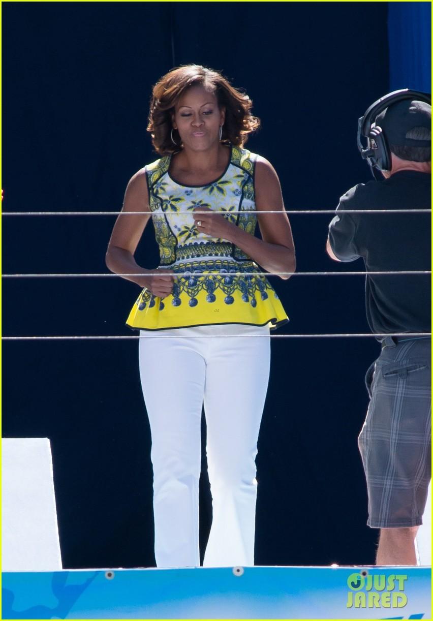 michelle obama ariana grande arthur ashe kids day 2013 01