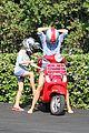 gwyneth paltrow apple moped to coffee shop 21