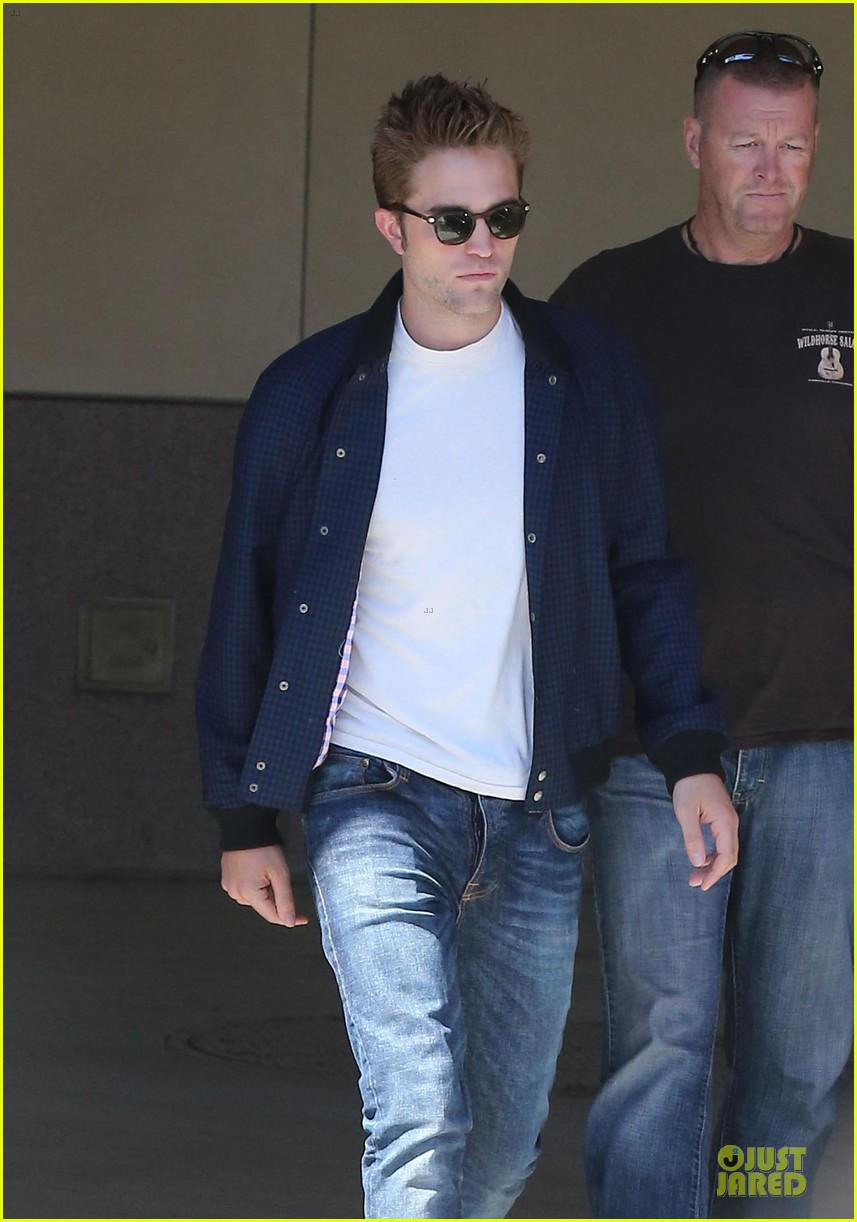 robert pattinson cool office building exit 222931604